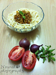 Pasta (Nourah Almajaishy) Tags: food cooking tomato with mint pasta meat onions    nourah         almajaishy