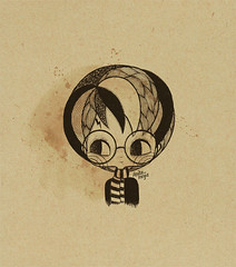 J. K. Rowling HB (Anita Mejia) Tags: sepia illustration pen ink movie hp traditionalart harrypotter books fanart tribute jkrowling chocolatita anitamejia