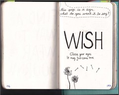WTJ-This page is a sign. What do you want it to say? (aailujks) Tags: this eyes close journal may dandelion your wish wreck dandelions wishing wtj wreckthisjournal