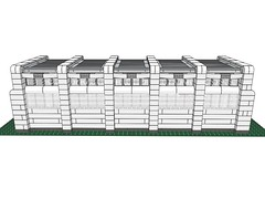 DBW005 (Dragonov Brick Works) Tags: architecture lego mlcad ldraw studless miniscale