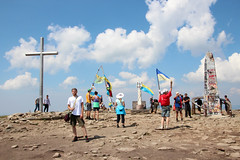 Manifestations of Ukrainian patriotism on top of Hoverla/Howerla (ADAM MUSIAŁ) Tags: ukraine patriotism hoverla chornohora howerla czarnohora