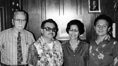 Governor Paul Calvo and Dr. Rosa Roberto Carter, 1981