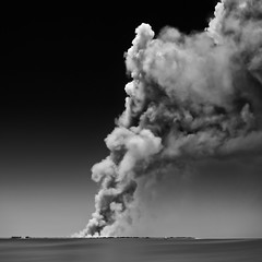 Paradise Burning (josesuro) Tags: fineart egmontkey jaspcphotography 2016 florida ftdesoto beach digital tampabay landscapes bw afnikkor50mmf18d clouds nikond750 fire
