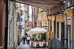 cagliari (heavenuphere) Tags: cagliari sardegna sardinia sardinie italia italy europe island city street alley terrace shops people 24105mm