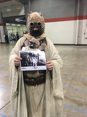 me with my andre gower autograph (timp37) Tags: me wizard world comic con august 2016 illinois chicago cosplay conlife monster squad autograph andre gower tusken raider star wars sand people