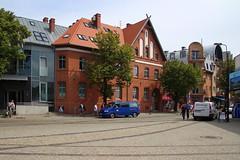 Streets of Koobrzeg (1) (Krzysztof D.) Tags: pomorskie pomorze koobrzeg polska poland polen architecture architektura shiftn red brick cega czerwona
