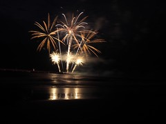 Firework on the sea (S.w.C.photography!) Tags: fireworks explosion sea beach thenetherlands scheveningen thehague show event photography swcphotography reflection