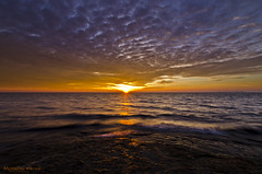 Sun Burst (C h r i s - F.) Tags: sunrise sun rise marblehead ohio oh lake erie burst sky clouds morning dawn nikon d7000 cedar point