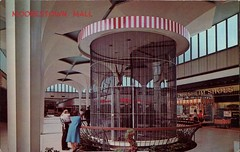 Moorestown Mall, New Jersey (SwellMap) Tags: postcard vintage retro pc chrome 50s 60s sixties fifties roadside midcentury populuxe atomicage nostalgia americana advertising coldwar suburbia consumer babyboomer kitsch spaceage design style googie architecture mall shopping shop