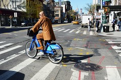 NTC Streets DSC_6607 (Nina Roberts) Tags: bowery nyc newyorkcitystreets manhattan bike citibike buddhistmonk monk buddhism