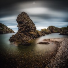 High Tide [Explored - 20/8/16] (Augmented Reality Images (Getty Contributor)) Tags: worldphotoday beach canon cliffs clouds hightide landscape leefilters longexposure morayshire pebbles portknockie rocks scotland water