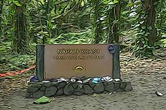 Kalalau Trailhead, Na Pali Coast - Kauai, Hawaii, US (Stickwork-Steve) Tags: sign napali kauai
