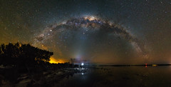 Stranger in a Strange Place (Astronomy*Domine) Tags: night nightscape astrophotography astronomy astro lake ninan reflection zodiacal light flash yongnuo milkyway newnorcia wonganhills canon 6d samyang 14mm photographingspace nik color efex strangerthings selfie