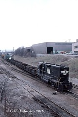 N&W 4114 in 2-82 (C.W. Lahickey) Tags: nw emd g38ac greentree