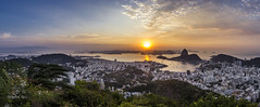 Panorama of a Rio de Janeiro sunrise (shooterb9) Tags: riodejaneiro rj panorama sunrise nascerdosol cidademaravilhosa above over sugarloaf podeacar donamarta foratemer brasilemimagens brasil brazil