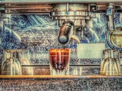 Simple and Irresistible (clarkcg photography) Tags: coffee latte caffeine frappuccino cappuccino blackcupofcoffee pickmeup sips headache shot glass nikoncoolpixp510 flickrfriday simplyirresistible erlyrush muskogee oklahoma texture texturaltuesday