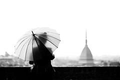 Faded (ikhals) Tags: vscofilm vsco italy italia turin torino blackandwhite umbrella rain silhouette landscape