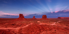 Blue hour in Monument Valley - Utah (USA) (luke.switzerland) Tags: monument valley utah usa states park colors blue hour landscape nature nikon d810 travel
