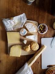 Breakfast in Edinburgh (skron) Tags: bread cheese olives meal eating food