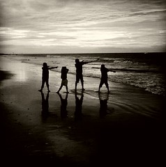 "Sunset ""Do the Dab"" #beach#black & white (image2point7) Tags: black beach"