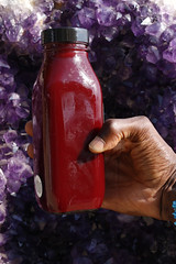 Beet Carrot Celery Cucumber Kale Spinach Ginger Organic Cold-Pressed Vegetable Juice with Amethyst (WILLPOWER STUDIOS) Tags: veggetablejuice organic coldpressed beetjuice beet beets amethyst crystal crystals rawvegan vegan plantbased healthy lifestyle wellness wellbeing
