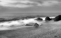The quiet after the storm (Bertucci Andrea) Tags: storm landscape sea sunrise blackandwhite calabria italy d7000 tamron1750