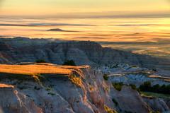 Sunrise over the Badlands (ap0013) Tags: badlands sun sunrise national park south dakota badlandssunrise southdakota badlandsnationalpark fog foggy landscape weather badlandssouthdakota wall unitedstates