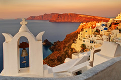 (Andy Bracey -) Tags: bracey andybracey oia greece santorini sea water church bells bell coast coastal aegean med dome blue sunset holiday landscape seascape explore explored