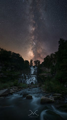 Chittenango Falls Under The Milky Way (Mike Ver Sprill - Milky Way Mike) Tags: chittenangofallsmilkyway milkywaymike michaelversprill mikeversprill hikewithmike nightsky nightscape nightscapers astrophotography astronomy space stars cosmos star water waterfalls upstate newyork ny woods forest trees river stream rocks whitewater rapids beautiful gorgeous longexposure ioptronstartracker starrylandscapestacker stacking le nature wilderness september2016 travel explore verticlepanorma pano amazing statepark camping cazenovia lightpollution tamron1530 nikond800 peterlik milky way scientist outstanding image astounding