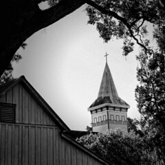 Go to Meetin' (John Ilko) Tags: exploring church churchexterior churchsteeple bradenton fl blackwhite monochromey fujifilm xe2 rural oldbuilding oldstructure