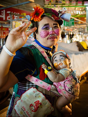 "Korean karaoke lady and doll • <a style=""font-size:0.8em;"" href=""http://www.flickr.com/photos/44919156@N00/29535342095/"" target=""_blank"">View on Flickr</a>"