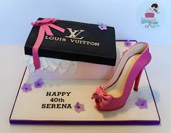Shoebox Cake (littlecakefairydublin) Tags: shoebox designer shoe sugarshoe lifesize highheels louisvuitton