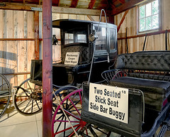 Depot Wagon and Side Bar Buggy (SteveMather) Tags: 1880 rockaway coupe depot wagon horse drawn pulled cdfirestonecolumbusbuggy 1890s two seated stick seat side bar buggy whip 2016 mahoning canfield fair youngstown fairgrounds oh ohio county westernreservevillage
