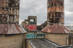 Rone, Roam, Kanan, Acks (NJphotograffer) Tags: graffiti graff pennsylvania pa philadelphia philly abandoned building urban explore rooftop rone tku crew roam kanan acks