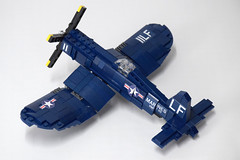 Vought F4U4 Corsair (4) (Dornbi) Tags: lego aircraft wwii vought f4u f4u4 corsair navy marines us naval