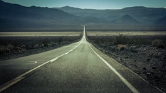 The road ahead is empty (Channed) Tags: america amerika california deathvalley noordamerika us usa unitedstates unitedstatesofamerica vs verenigdestaten road chantalnederstigt