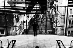 (formwandlah) Tags: street photography streetphotography silhouette silhouettes silhouetten shadow schatten dark noir urban candid city strange gloomy cold sureal bizarr skurril abstract abstrakt melancholic melancholisch darkness light bw blackwhite black white sw monochrom high contrast ricoh gr pentax formwandlah thorsten prinz licht fear paranoia einfarbig personen