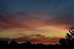 narrow sky (viewsfromthe519) Tags: evening sunset sky clouds red pink purple blue orange yellow golden saintthomas stthomas ontario canada