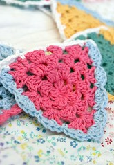 Granny Triangle Bunting (LululovesUK) Tags: triangle crochet granny bunting