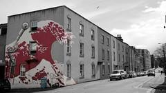 Stokes Croft Tsunami (Benn Gunn Baker) Tags: city red england urban bw white black colour art by canon bristol japanese graffiti baker great wave off inner tsunami croft hokusai stokes kanagawa benn gunn phlegm mm13 550d prsc t2i