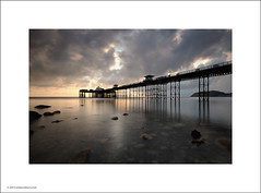 Sunrise at Llandudno Pier (Ian Bramham) Tags: colour wales sunrise dawn pier photo seaside llandudno ianbramham