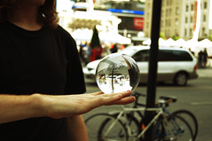 Perception (45millimeter) Tags: toronto glass ball perception magic fingers special thoughts mystical balance yonge dundas ideas understanding 45millimeter