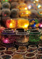 Glass Lanterns + bokeh, spice Market, Istanbul (knightinz) Tags: bokeh istanbul spicemarket egyptianmarket riotofcolours porcelainwares colourfulglassware