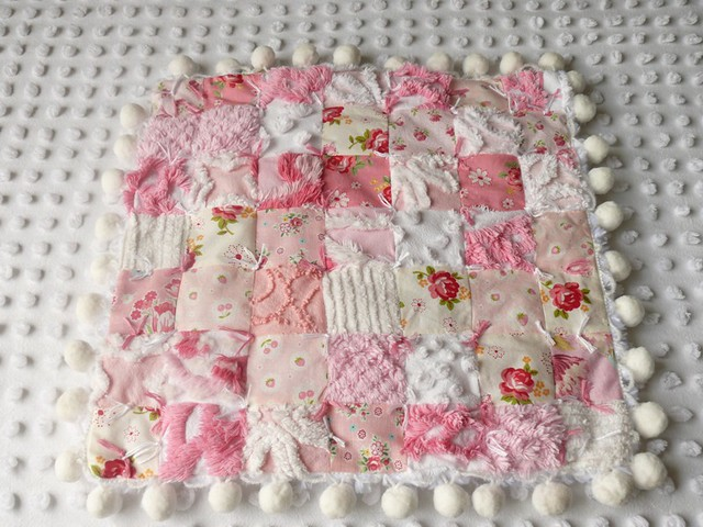 baby love rose fruit work vintage japanese pom doll quilt antique mother strawberries sew fabric passion sheet blythe patch lacy chenille poms matsuyama atsuko