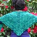 Ebbtide Shawl with Rhododendrons