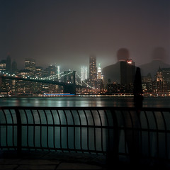 fade... (Barry Yanowitz) Tags: nyc newyorkcity longexposure bridge ny newyork 6x6 film brooklyn mediumformat flickr downtown kodak manhattan dumbo bridges 120film brooklynbridge scanned filmcamera nycity 718 brooklynbridgepark colorfilm kodakportra400 downunderthemanhattanbridgeoverpass rolleicordv mainstreetsection