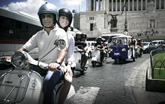 DEAROMA TOUR (Adriano.) Tags: sun rome canon vespa rally wide 5d summertime sprint ts sampietrini piazzavenezia azusa px canon1740 raffo apecalessino caffio abbabbua buciarda pintuccifather
