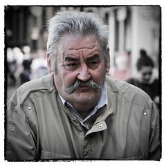 The Italian (Frank Fullard) Tags: street portrait italy man men chat italia candid lucca moustache tuscany toscania tash fullard frankfullard