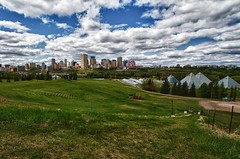 A Cloudy But Still Nice Day (Matthew P Sharp) Tags: blue summer sky canada clouds landscape edmonton alberta