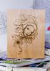 Acanthus Mutation Laseretching (reddwalitzki) Tags: flower drawing surreal ethereal acanthus mutation laseretched lasercut lasercutwood candygears lasercutart bellevuefineart